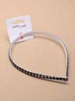 Black and white fabric covered aliceband (Code 2752)